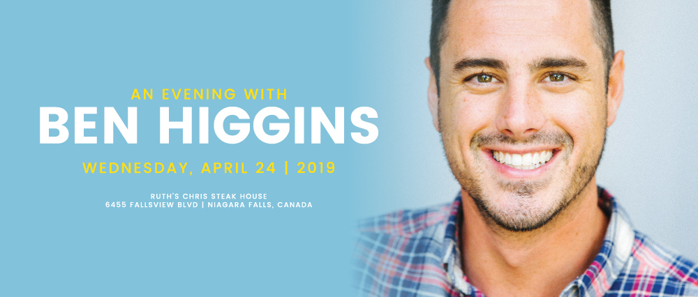Embassy Suites by Hilton Niagara Falls - Fallsview Hotel, Canada - Evening with Ben Higgins