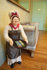 Our Granny statue awaits you.