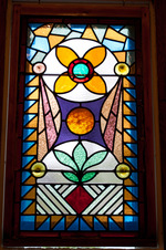 Stain glassed windows for you to admire.